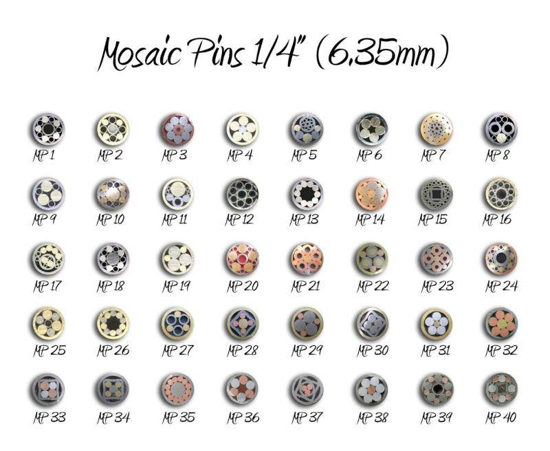 Pinos mosaico para cabos de facas( dar a sua faca uma melhor handmade olhar)