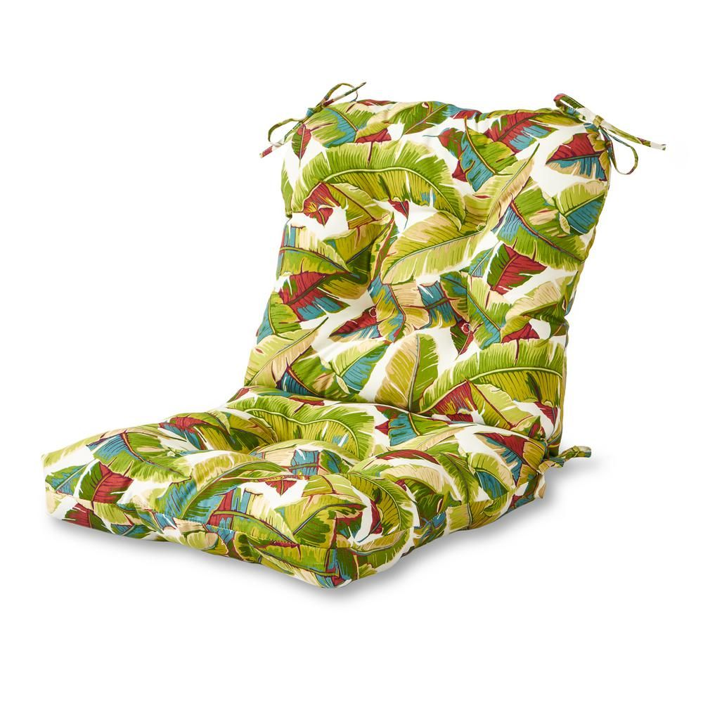 Greendale Home Fashions Palm Leaves Multi Outdoor Dining Chair Cushion In 2019 Products Outdoor Chair Cushions Outdoor Chairs Outdoor Dining Chair Cushio