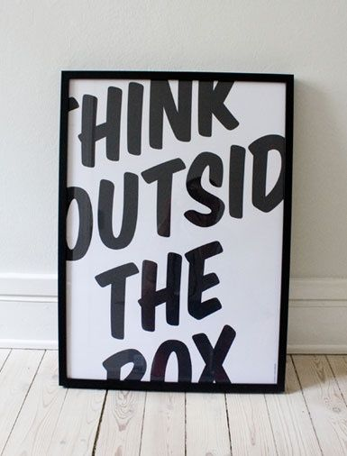 think outside the box #quote #onlybestquotes #typography