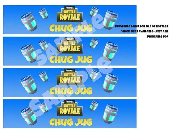 Chug Jug Printable Water Bottle Labels for 16 9 oz bottles