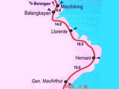 Samar Philippines Map Our Trip To Llorente Eastern Samar