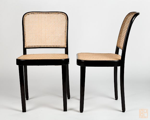 thonet kohn josef hoffmann sessel st hle restauriert. Black Bedroom Furniture Sets. Home Design Ideas