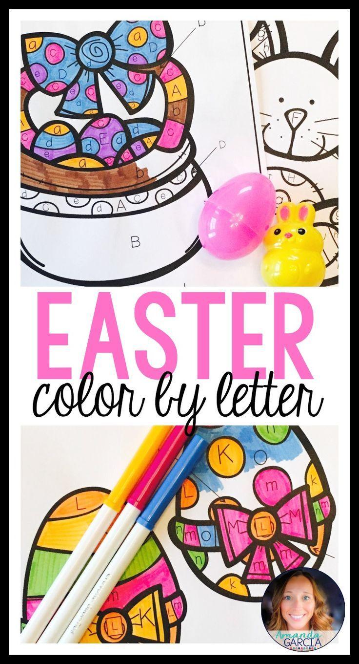 Easter Color By Letter | Easter Crafts | Pinterest | Easter ...