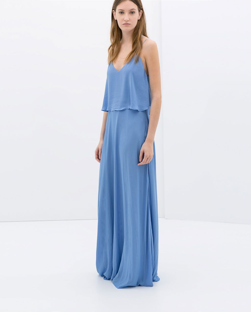 LONG DRESS WITH LOW BACK - Dresses - WOMAN  ZARA United States