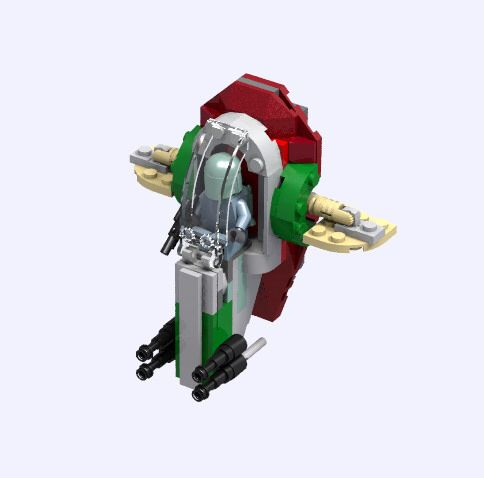 Microfighter Slave 1 Legos In 2018 Pinterest Lego Lego Star