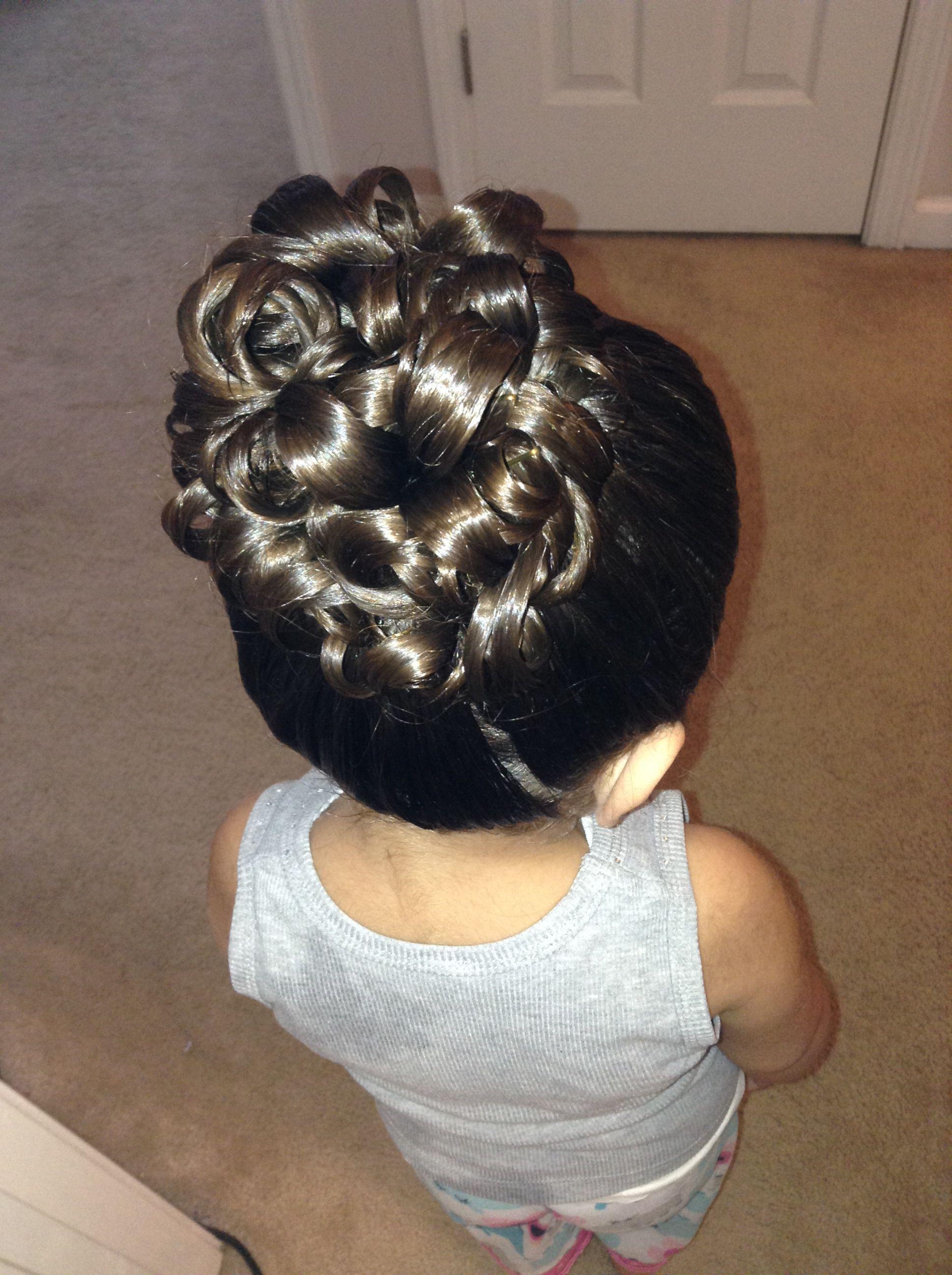flower girl updo hair