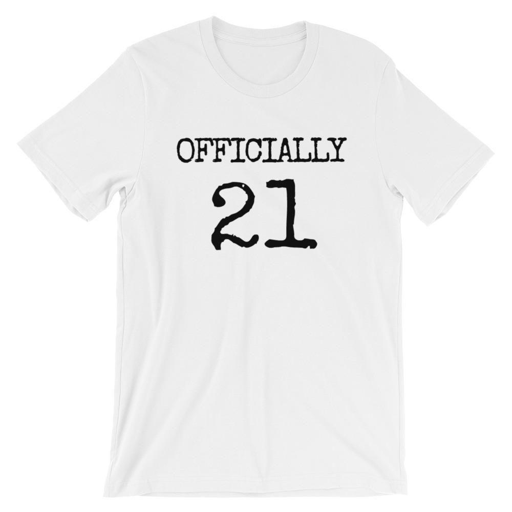 21st birthday gifts officially 21 birthday tshirtshort