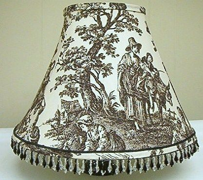 French Country Table Lampshade Waverly Country Life Toile Black French Country Tables French Country Waverly