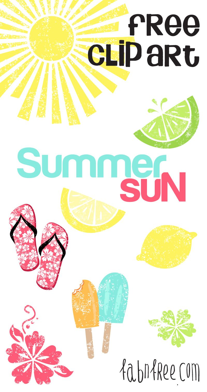 Summer free clip art set and journaling cards summer