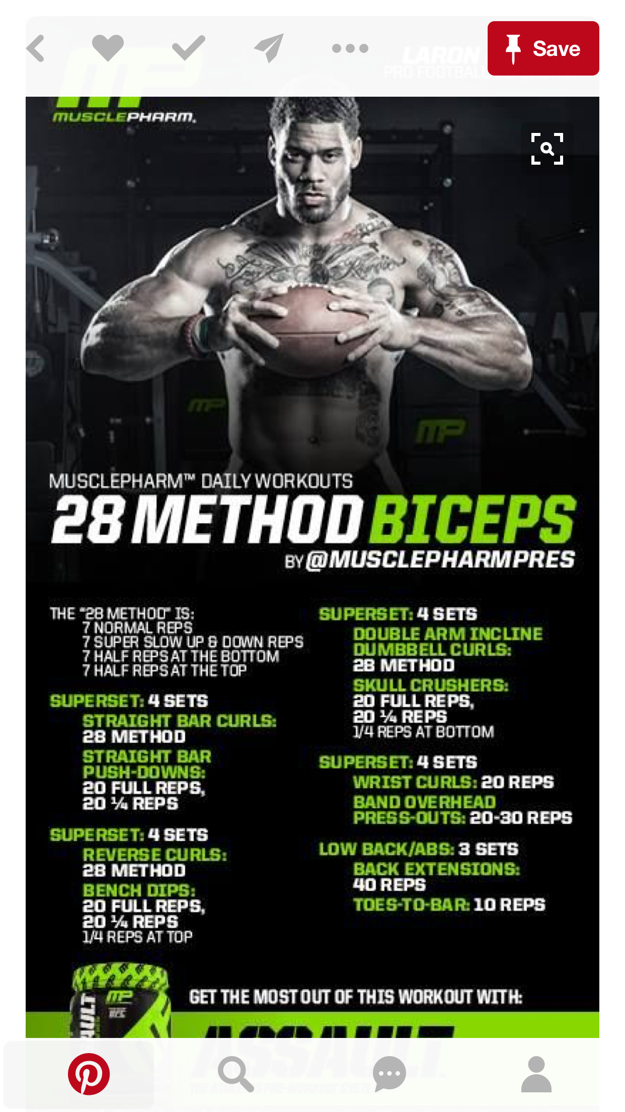 28 Method Bis and Reg Tris Musclepharm workouts, Chest
