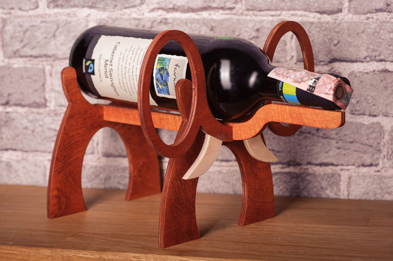 Wooden Wine Bottle Holder Elephant Standing Wine Rack Wine Case Interior Design Wine Accessor Elephant Wine Holder Wooden Wine Bottle Holder Wooden Wine Holder