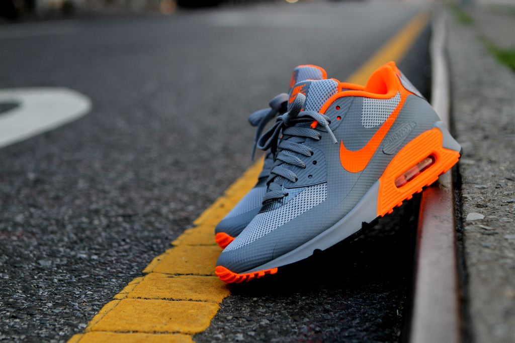 Nike Air Max 90 Hyperfuse Wolf Grey Orange