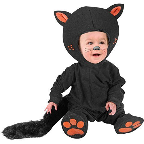 Our infant black cat outfit is the ideal classic baby Halloween costume. This cute infant costume is great for Halloween pictures or for trick or treati.  sc 1 st  Pinterest & Kids Infant Baby Black Cat Costume Size 12M | Baby Costume ...