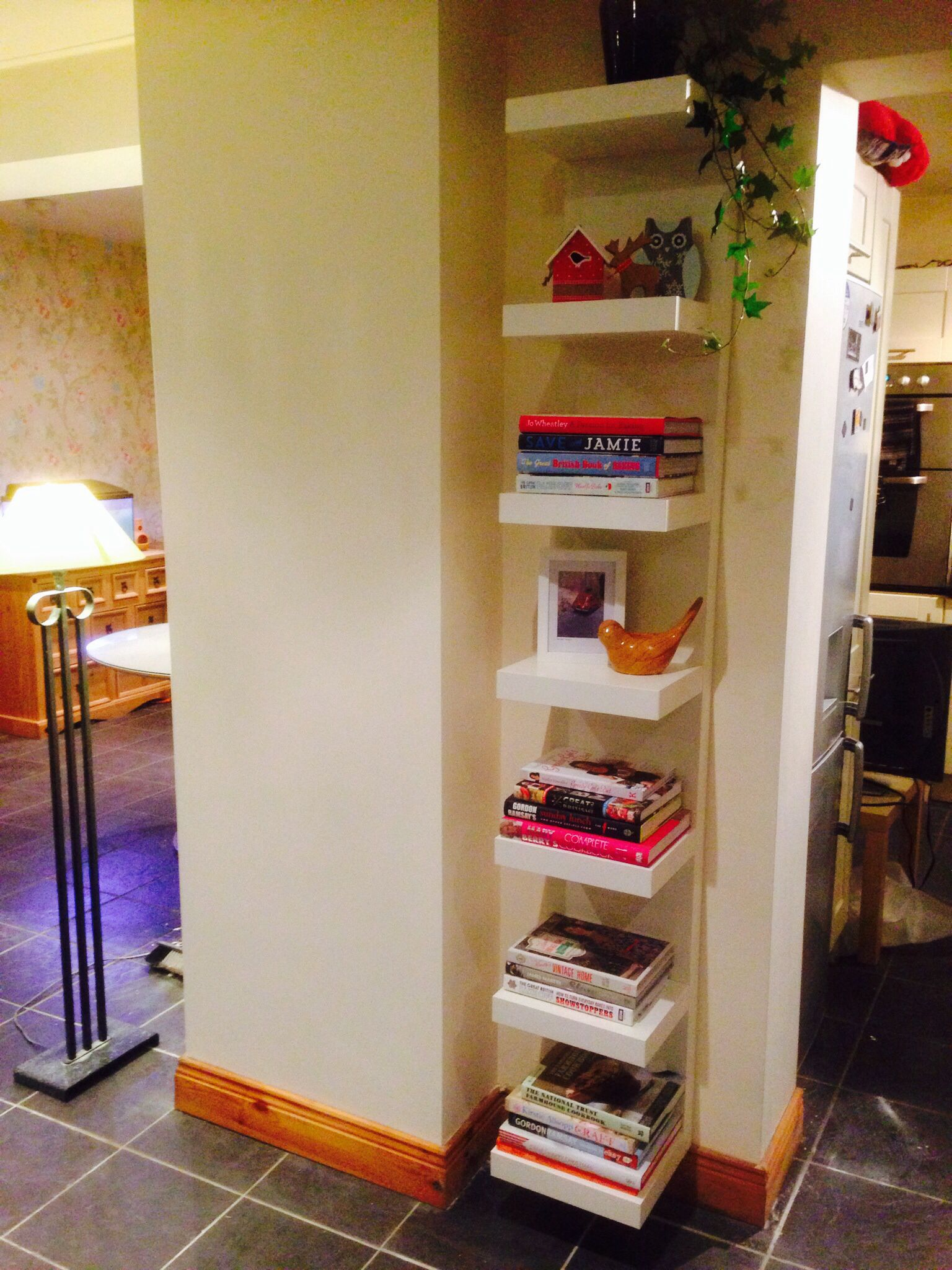 Family Room Make Over Started With Ikea Lack Shelf Unit