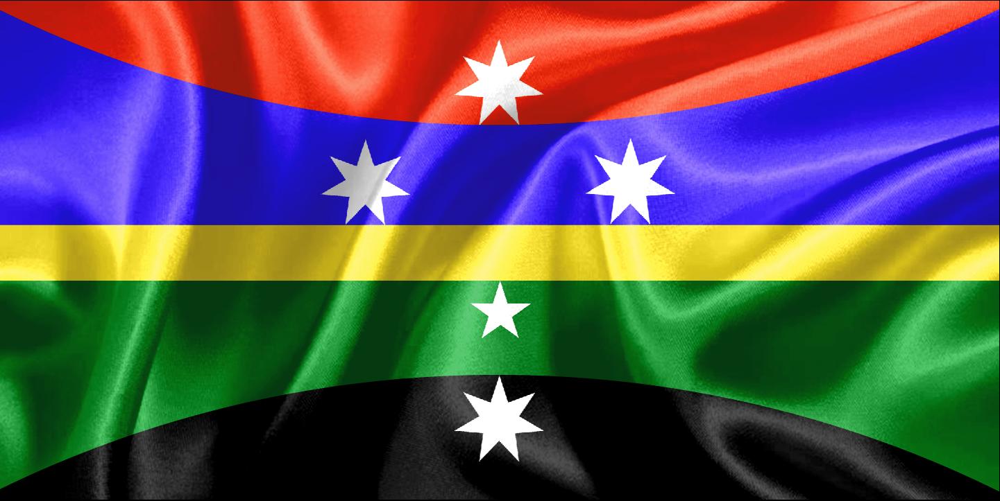 Ulurusky 2019 Sc5vmax Newaustralialand Flag Design Australian Flags Flag