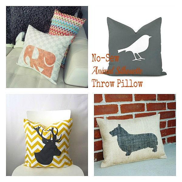 How To Make Cute Animal Pillows : How Cute are these animal silhouette pillows? Easy to makeover an existing pillow! For the ...