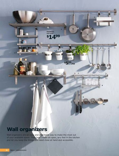 Wall Organizer System With Images Kitchen Wall Kitchen Countertops Kitchen Inspirations