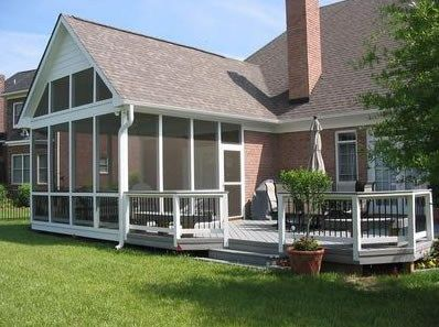 Screened Porch Low Deck Walkway And Path Archadeck Of