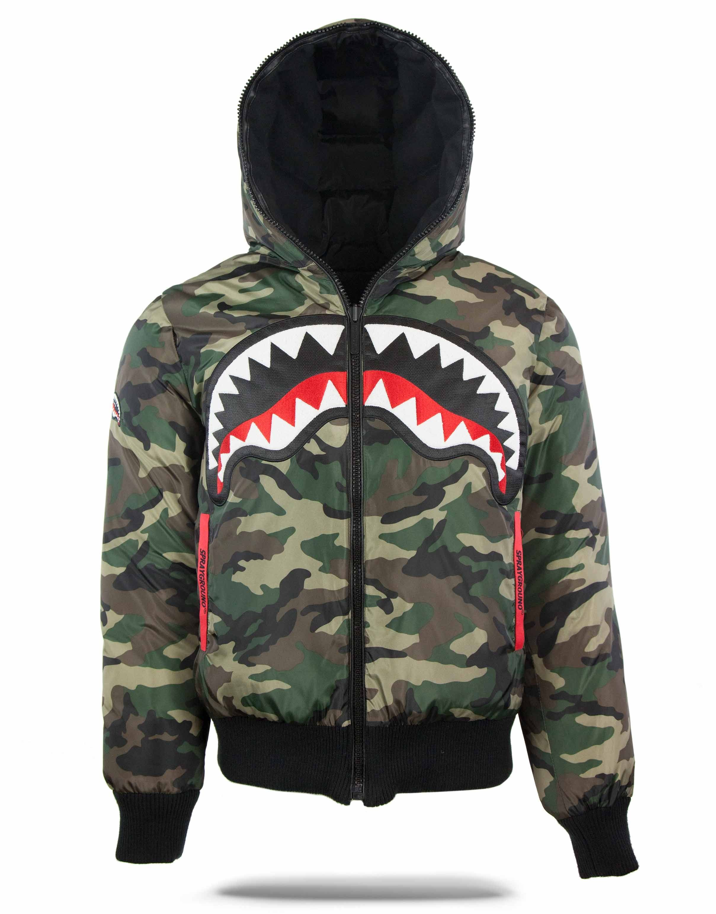 6546085450b0 Reversible Camo Shark Down Coat