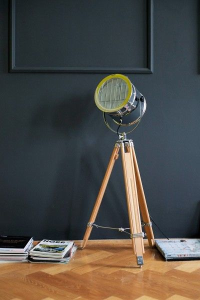 Alfred Tripod Floor Lamp, Natural Wood from Made.com. Neutral ...