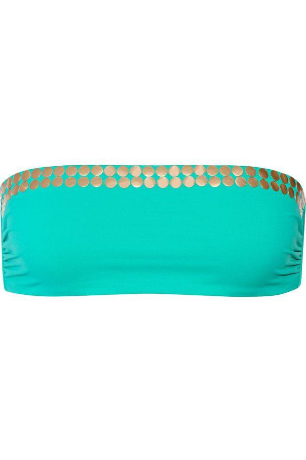 I.D. Sarrieri | Dial M for Mermaid embellished bikini top | NET-A-PORTER.COM