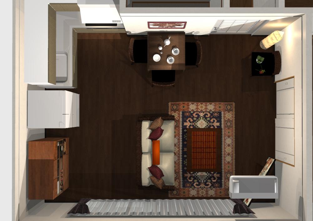 シックリゾートインテリア Hello Interior ハローインテリア リビングダイニング レイアウト 12畳 インテリア インテリア 12畳