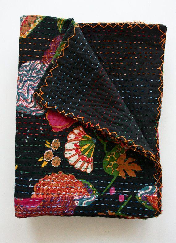 Queen or King Blanket Handmade Black Queen and King