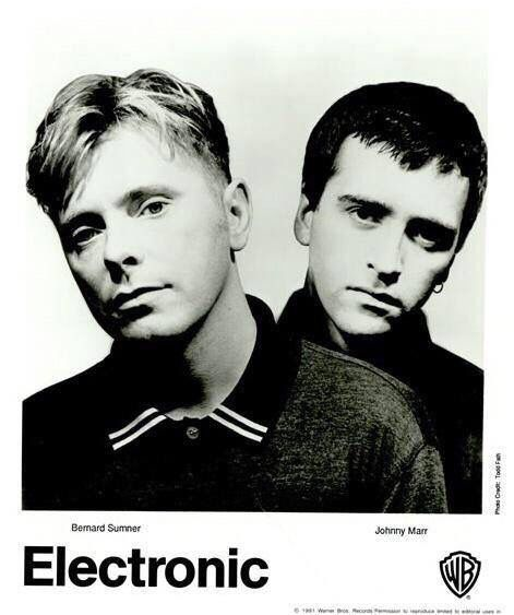 Bernard Sumner and Johnny Marr are Electronic