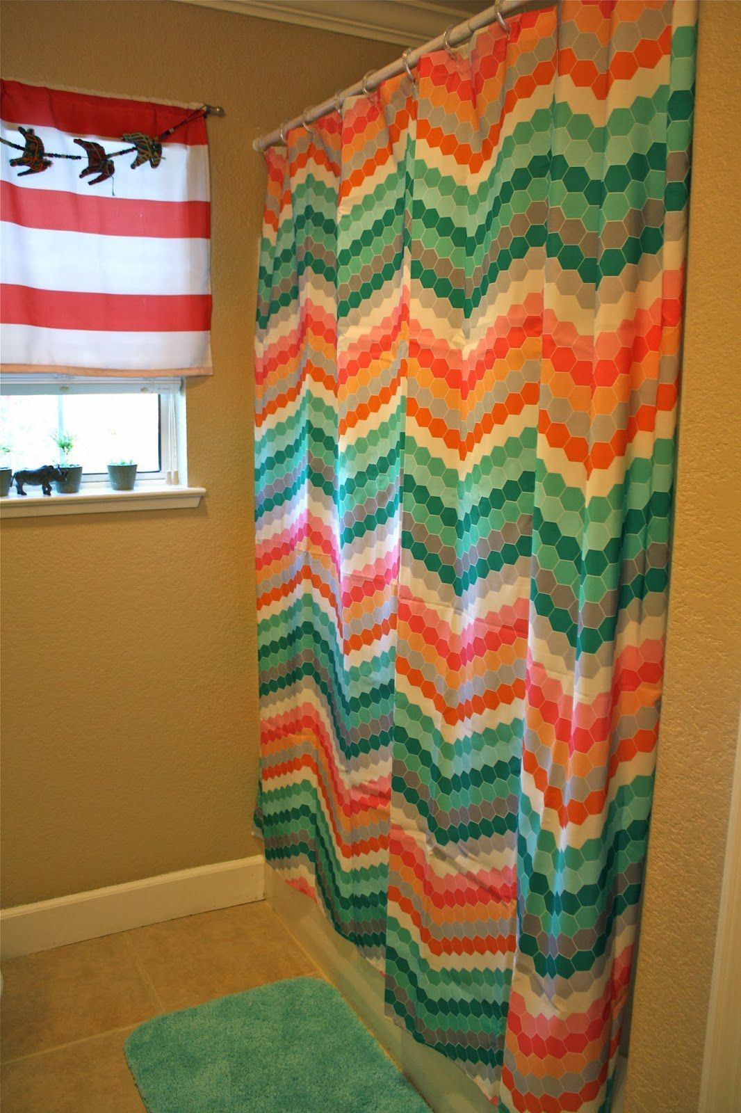 Teal And Orange Shower Curtain 1000 images about The Most Updated