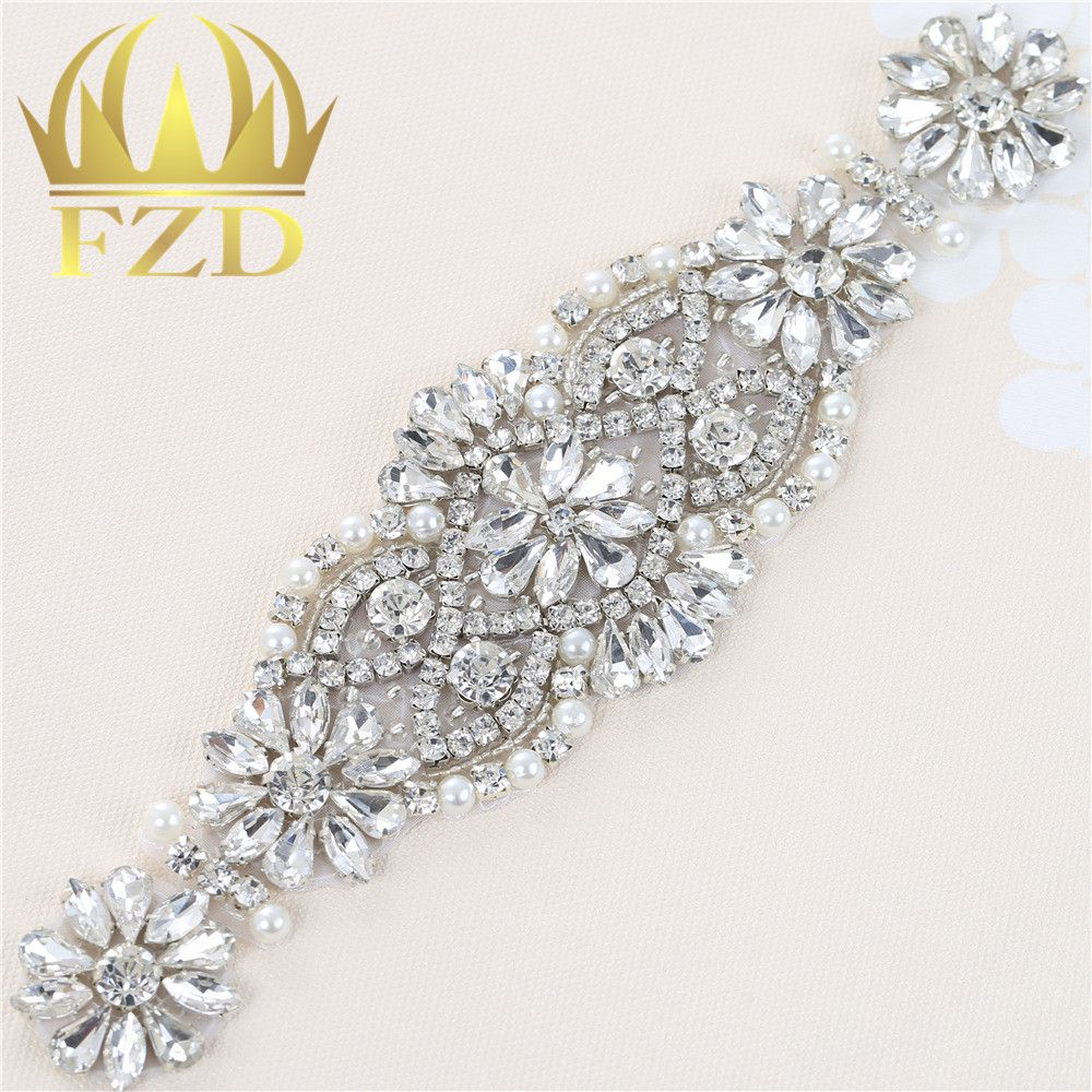1 Piece Bling Crystal Appliques Rose Gold Glass Rhinestone Appliques ...