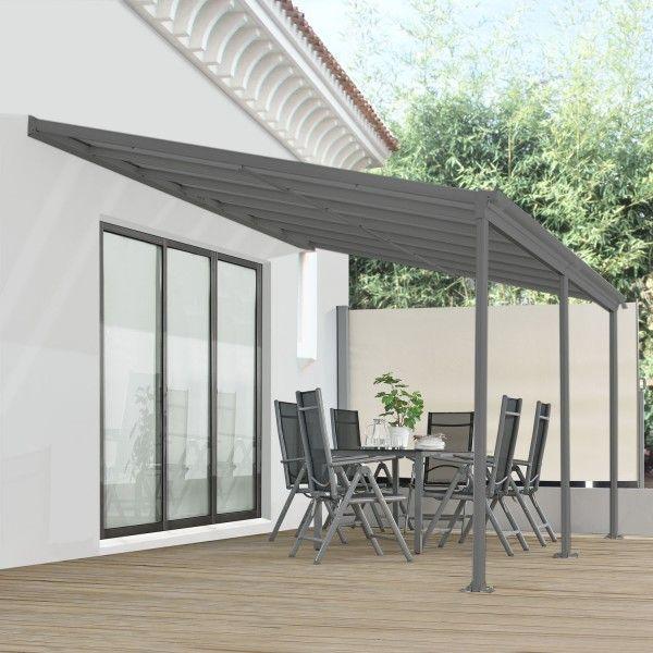 Aluminium Terrassendach Borneo 4x3m mit DoppelstegPlatten