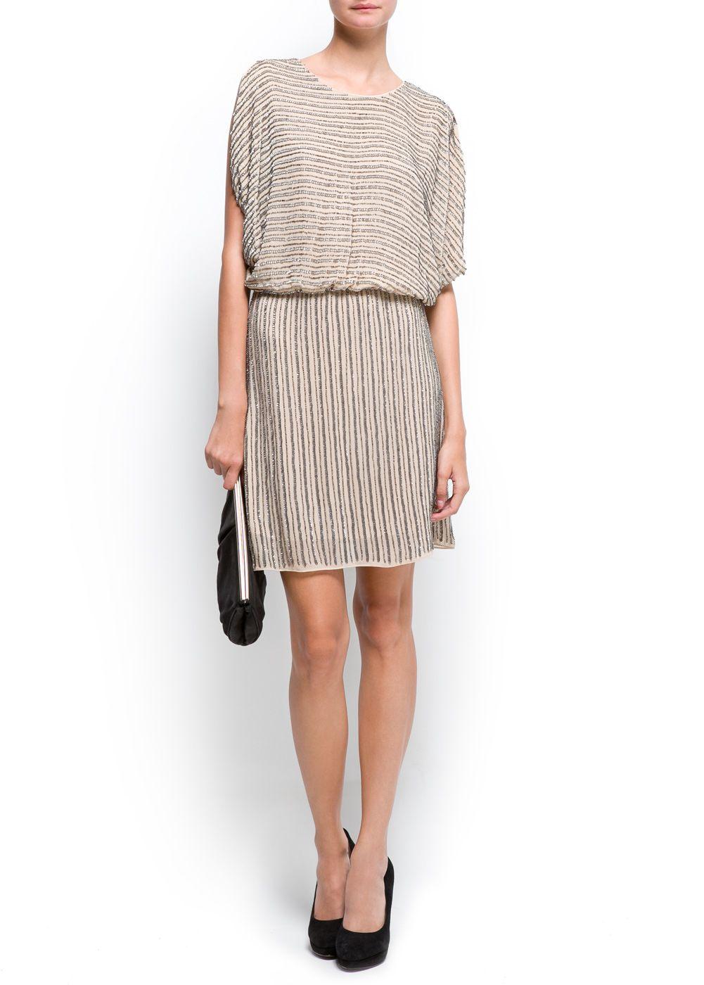 MANGO - CLOTHING - Dresses - Chiffon dress with sequins