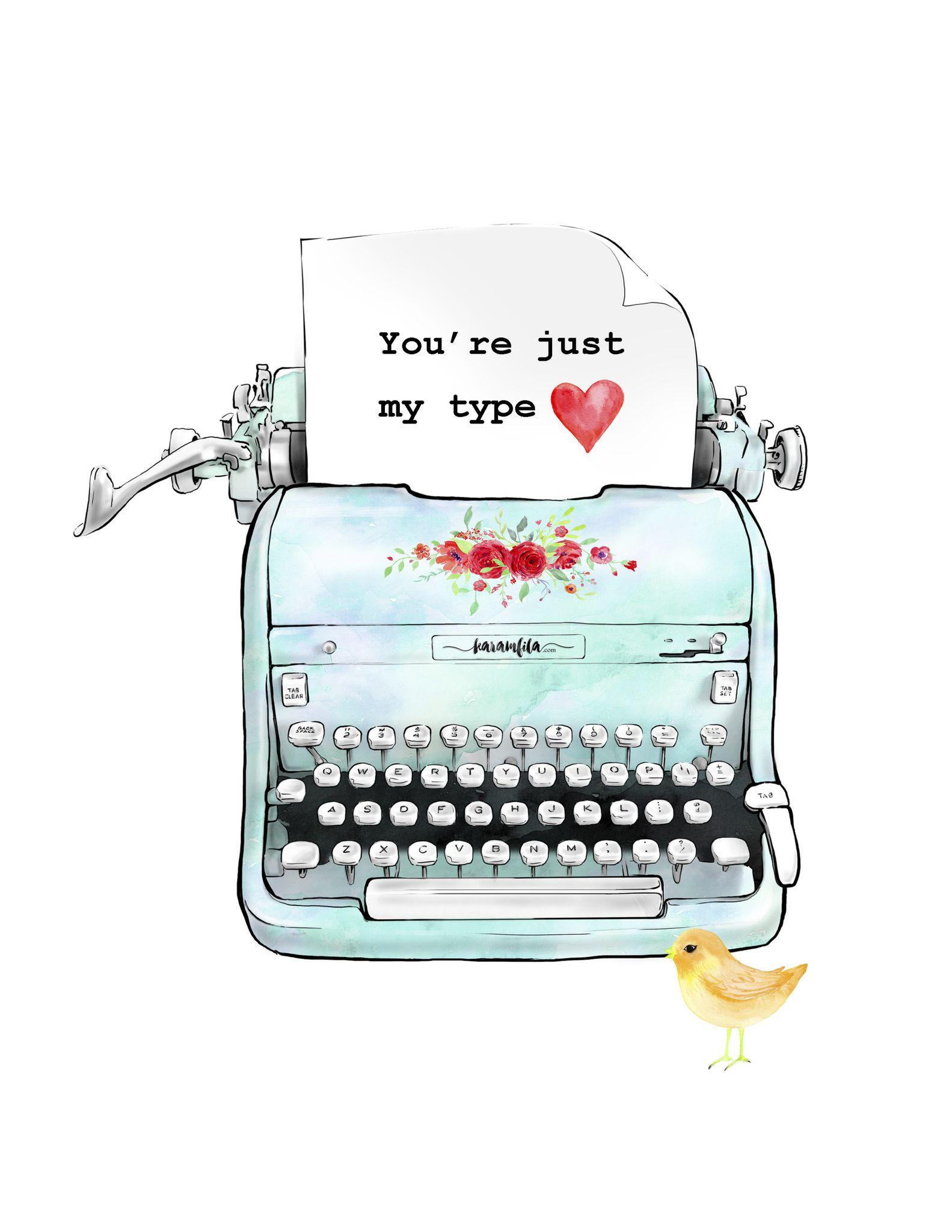 Vintage Turquoise Typewriter Printable Jpg Powered By Box Vintage Typewriters Typewriter Printable Frames