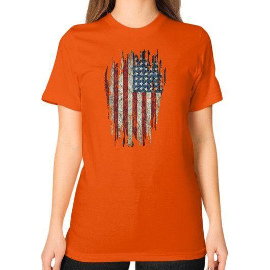 Merica Unisex T-Shirt (on woman)