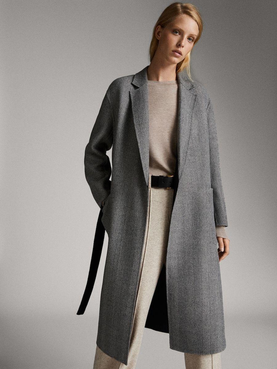 Abrigo Handmade Reversible Espiga Mujer Massimo Dutti España Abrigos Abrigos Grises Moda