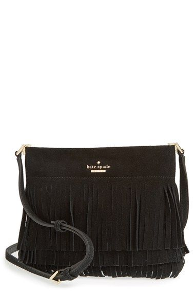 d6d0c2a51d83 kate spade new york  sycamore run - cristi  suede fringe crossbody bag  available at  Nordstrom