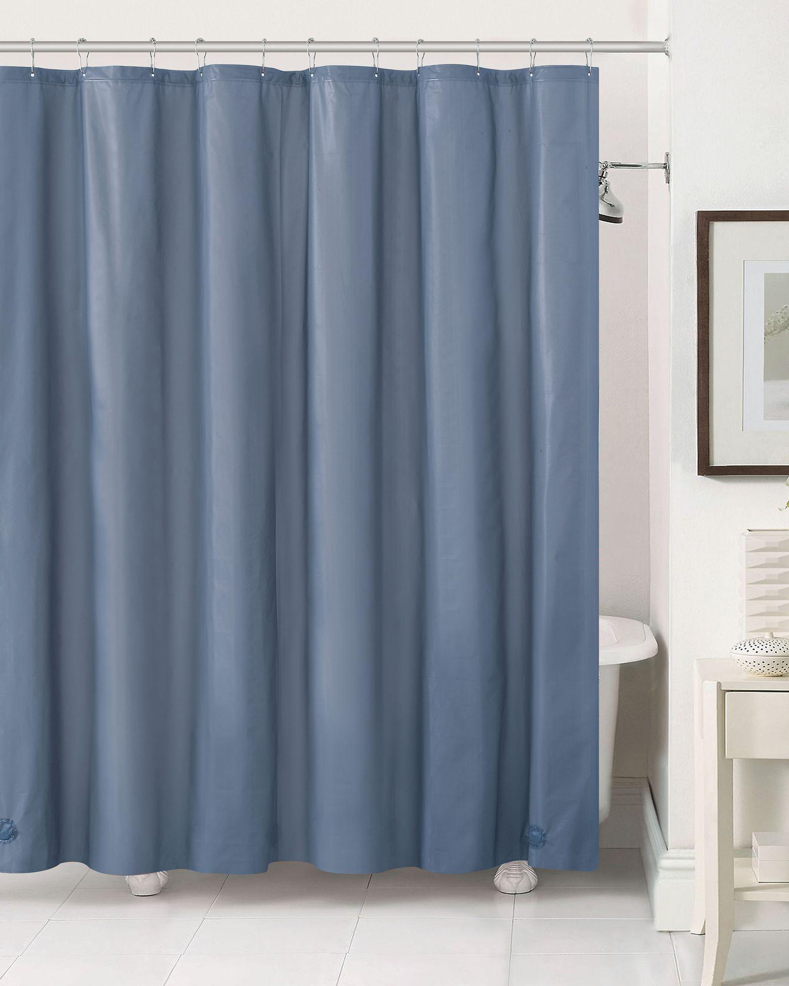 Aqua Block Slate Blue Shower Liner