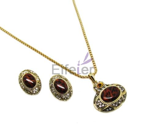 Gorgeous Gothic Retro Style Jewelry Sets with Leopard grain