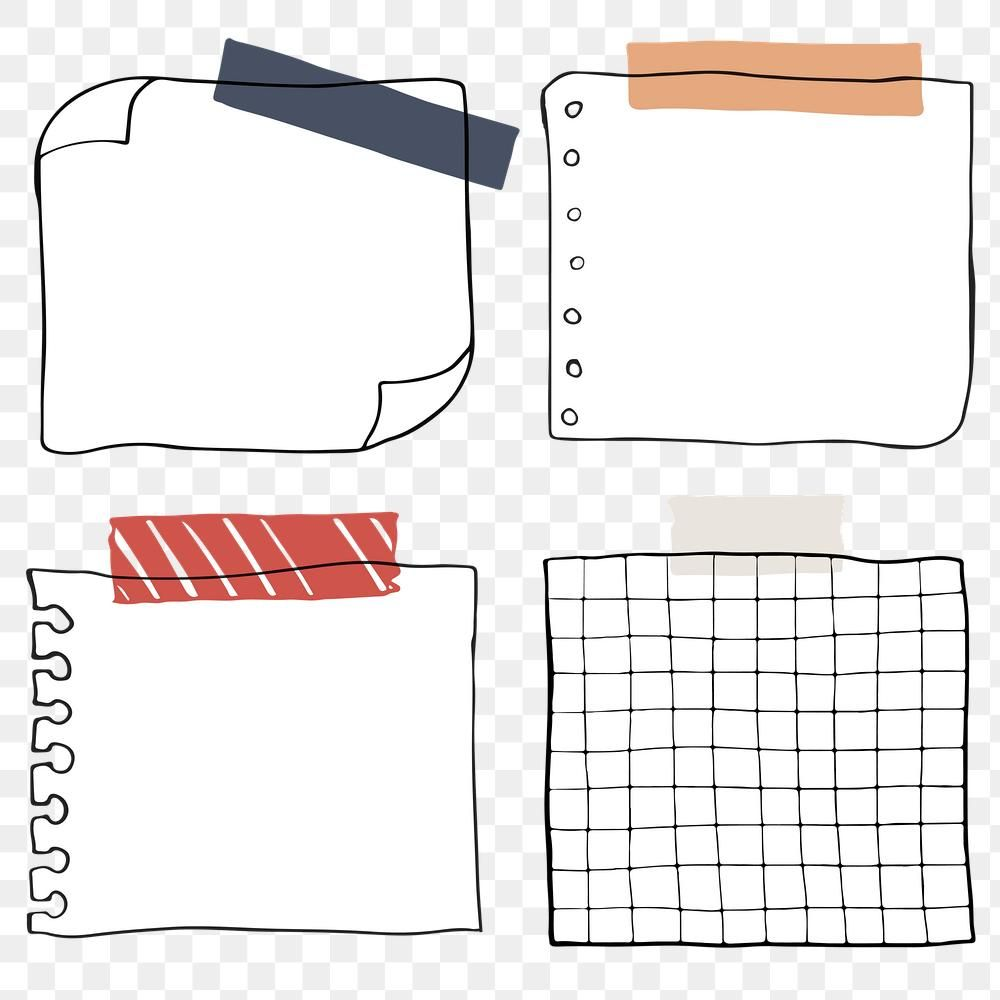 Set Of Blank Paper Notes Transparent Png Premium Image By Rawpixel Com Sasi Note Paper Note Writing Paper Bullet Journal Stickers