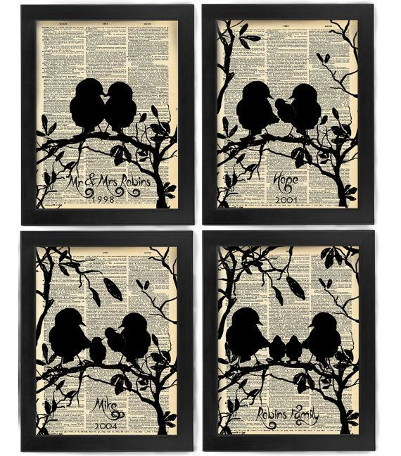 Your Family Tree, Dear Bird Family, Antique Dictionary Page, Book Page, Nerdy Poster, Art Print, Wall Decor, Wall Art Mixed Media Collage#antique #art #bird #book #collage #dear #decor #dictionary #family #media #mixed #nerdy #page #poster #print #tree #wall