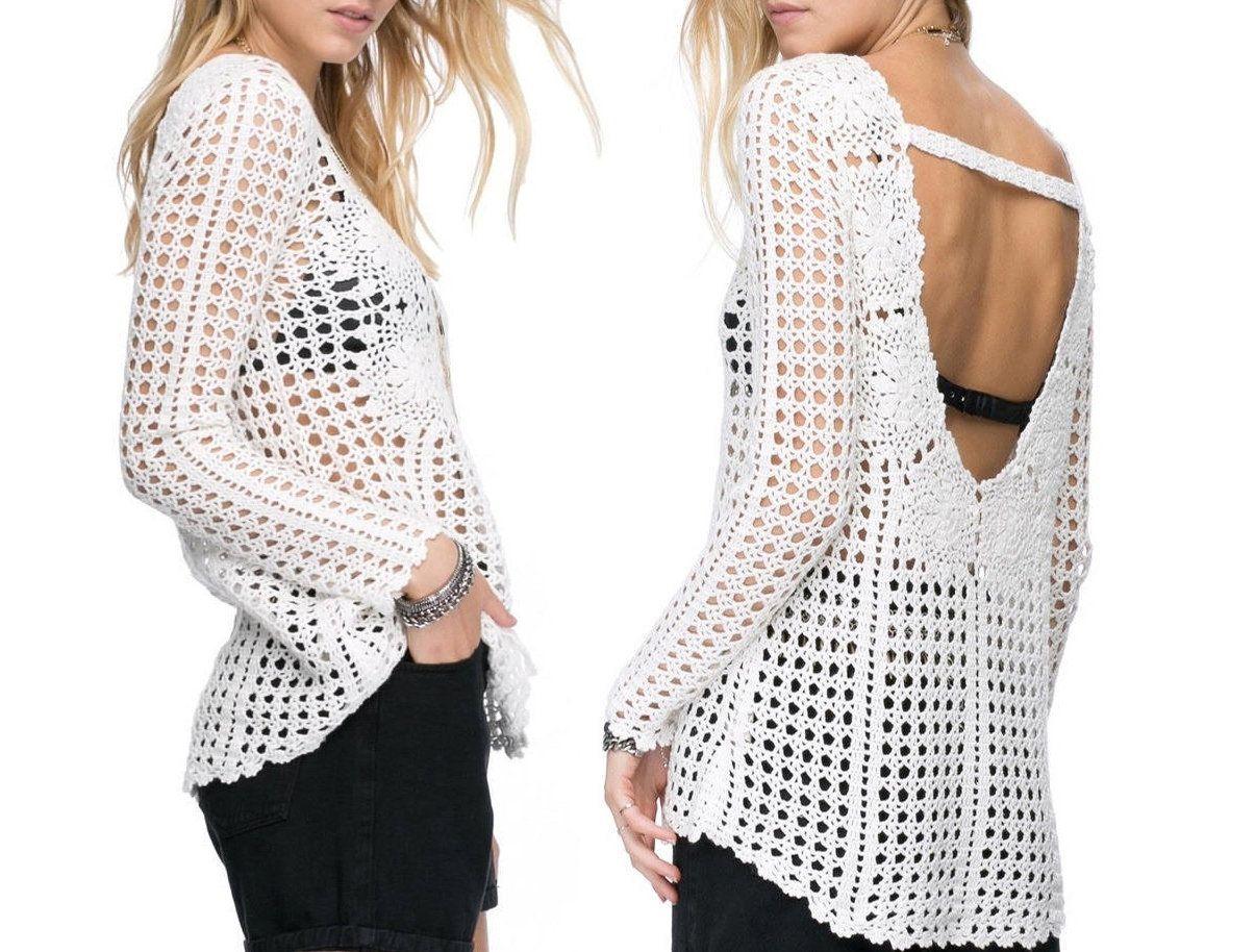 YARA crop top crochet pattern H\u00e4kelanleitung pdf deutsch english