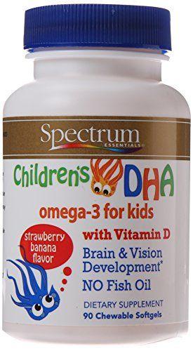 Spectrum Essentials Children S Dha With Vitamin D 90 Chewable Softgels Bottle Dieting Store Best Vitamins For Kids Brain Nutrition Vitamins For Kids