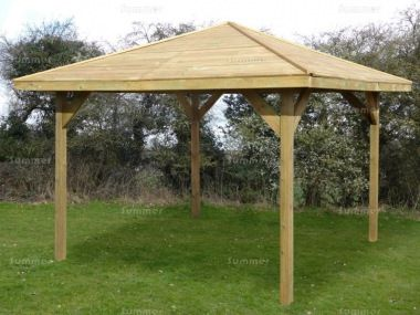 Best Gazebo 249 Hipped Pressure Treated Gazebo Gazebo 400 x 300