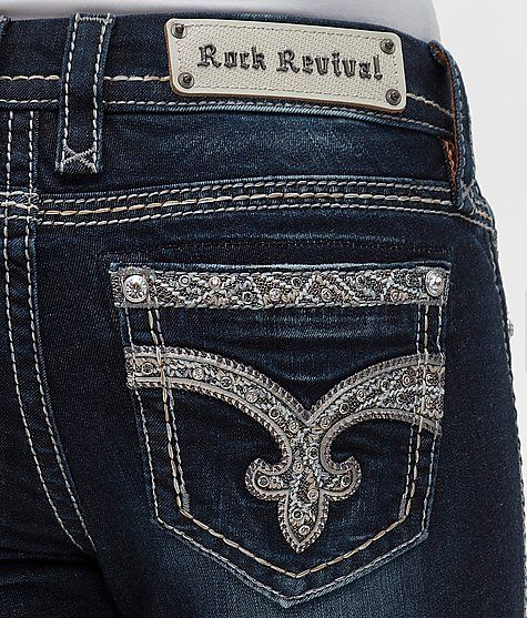 Rock Revival Tansy Mid-Rise Curvy Boot Jean - Wome