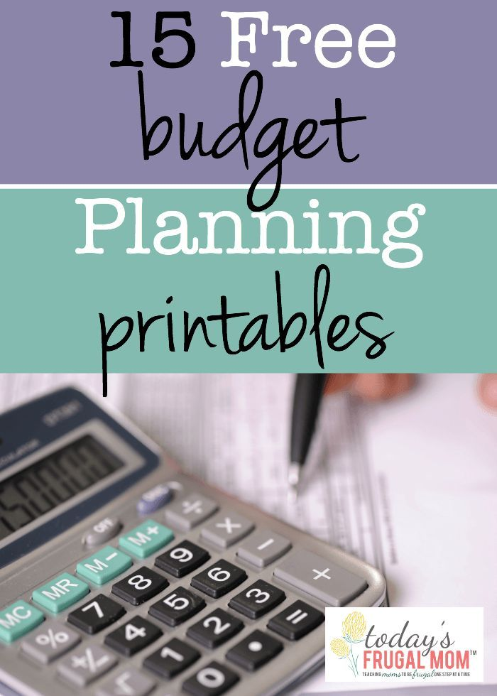 Free Budget Planning Printables  Budgeting Free And Money