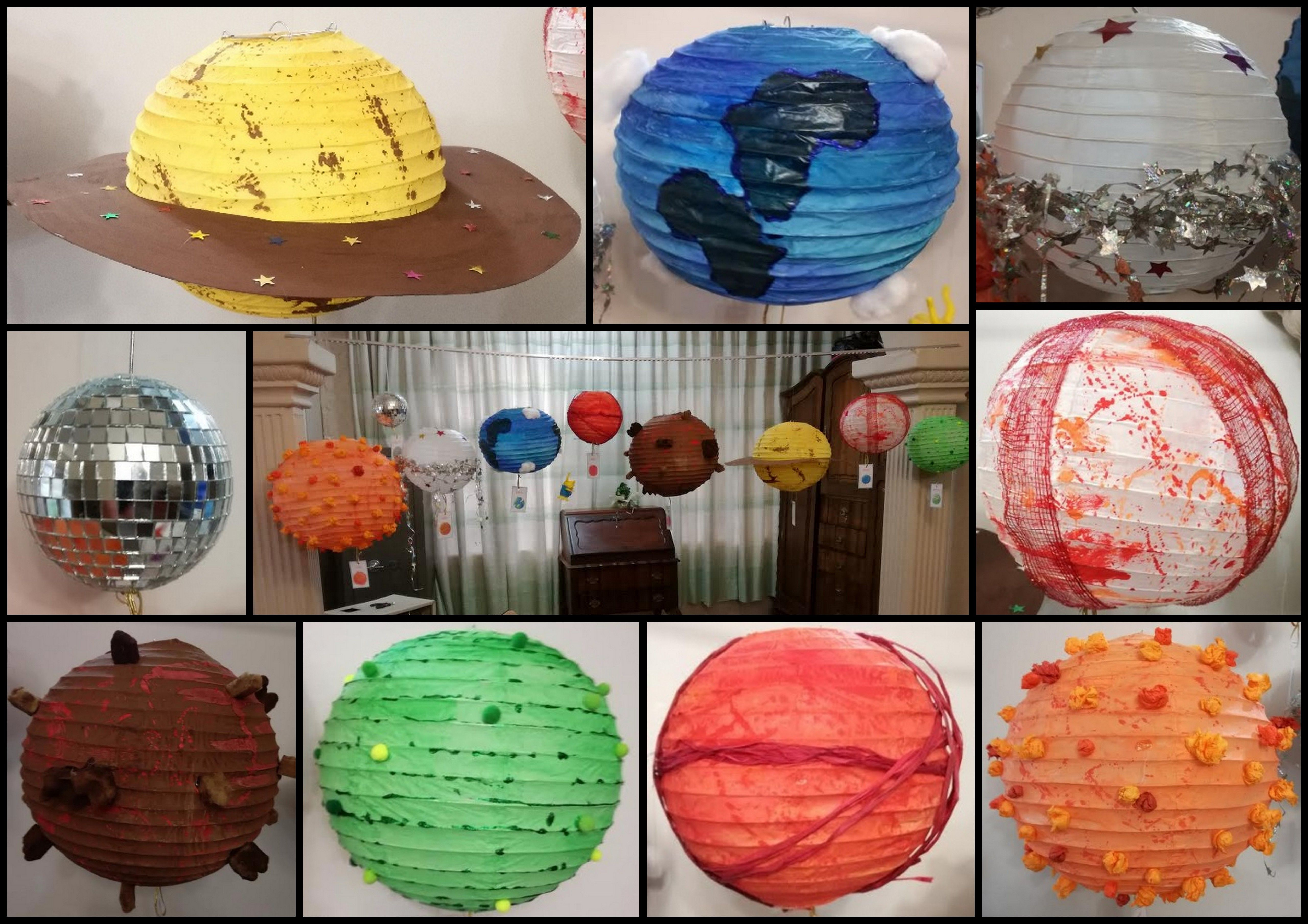 Solar System Planets Chinese Lanterns Diy Kids Craft School Project