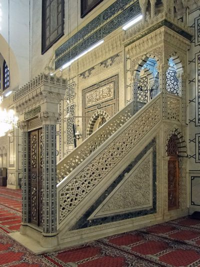 Minbar de la Mezquita de los Omeyas, Damasco, Siria