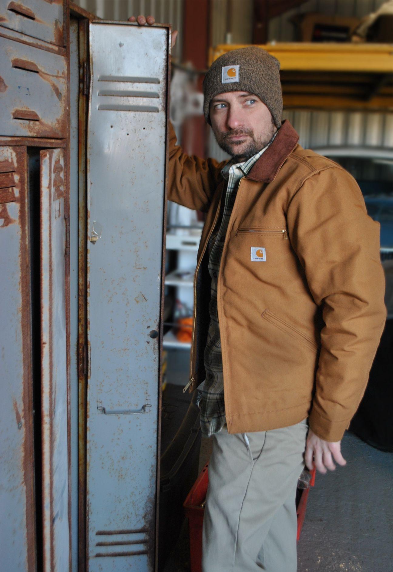 Carhartt Ej001 Jacket In Brown Great Workwear Jacket Indie Outfits Carhartt Jacket Hoodie Jacket [ 1886 x 1296 Pixel ]