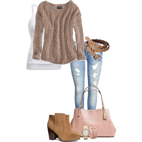 """Camel & Dusty Rose!"" by jjanstover on Polyvore"