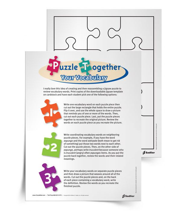 VG-Puzzle-Together-Vocabulary-Social activity- must fill out form to ...